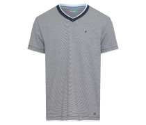 T Shirt navy / grau / weiß