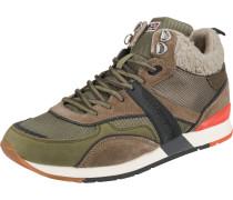 Sneakers High braun / khaki