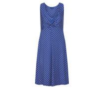 Kleid 'lovely knot' navy / weiß