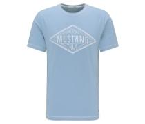 Shirt 'Alex C' hellblau / weiß