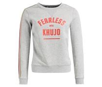 Sweatshirt 'feija' graumeliert / rot