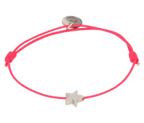Armband 'Star' pink / silber
