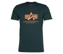 Print-Shirt dunkelgrün
