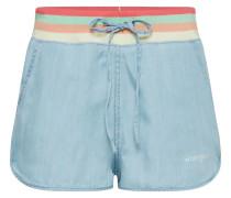 Shorts 'tencel' blau