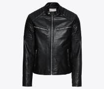 Lederjacke 'jorgun PU Jacket' schwarz