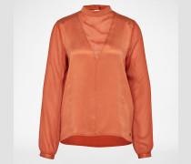 Bluse aus Seide 'Svetlana' koralle