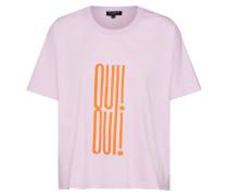Shirt 'oui' lila / orange