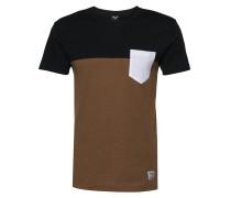 T-Shirt karamell / schwarz