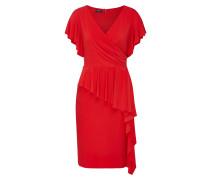 Kleid mit einem Volant mit Schößcheneffekt