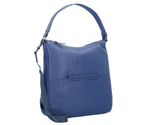 'Faro 5' Schultertasche Leder 34 cm blau