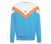 Sweatshirt orange / weiß / blau