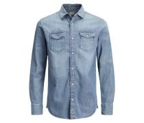 Langarmhemd blue denim