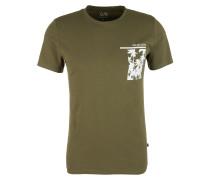 Jerseyshirt mit Palmen-Print oliv