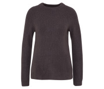 Pullover 'basic Turtle Rib' anthrazit