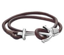 Armband 'jf02882040' dunkelbraun / silber