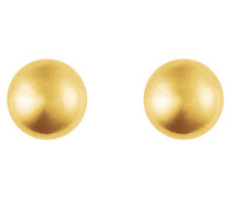 Dome Ohrstecker gold