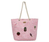 Strandtasche pink / weiß