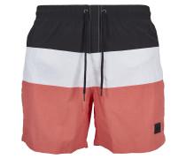 Shorts koralle / schwarz / weiß