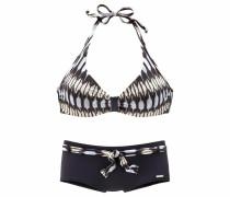 Bügel-Bikini schwarz / weiß