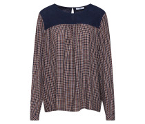 Bluse navy / rot