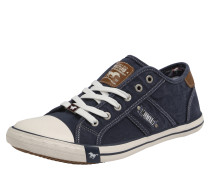 Sneaker im Canvas-Style dunkelblau