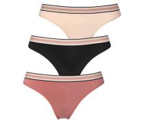 String (3 Stück) rosa / beige / schwarz