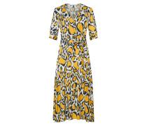 Kleid 'Irina' beige / braun / gelb