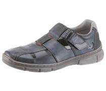 Slipper taubenblau / grau / rot
