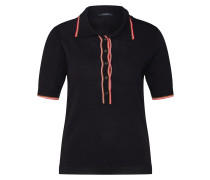 Poloshirt 'Drapy knitted polo with sporty ribs'