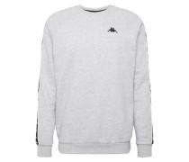 Sweatshirt 'Elia' graumeliert / schwarz