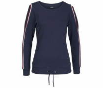 Sweatshirt navy / dunkelrot / weiß