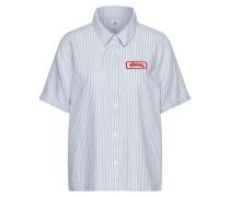 Kurzarm Hemd hellblau / weiß