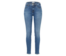 Skinny Jeans 'High Rise' blue denim