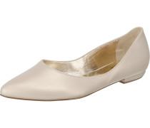 Klassische Ballerinas gold / naturweiß