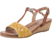 Sandaletten mischfarben / braun / gelb