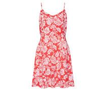 Kleid rot / weiß