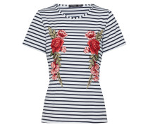T-Shirt 'Amelia Embroidered Stripe'