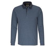 Polo-Shirt taubenblau