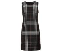 Kleid goldgelb / schwarz / weiß