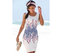Kleid blau / rosa / weiß