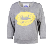 Sweatshirt 'Olgy the Sweat' gelb / grau
