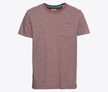 T-Shirt 'sg-088Ee2K002' grau / weinrot