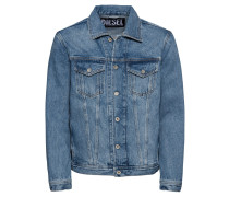 Jacke 'nhill Jacket denim' blue denim