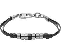 Herrenarmband schwarz / silber