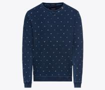 Sweatshirt 'Ams Blauw indigo allover print sweat in regular fit'