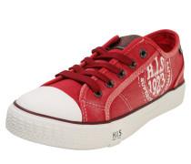 Sneaker im Canvas-Look rot / weiß