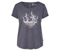 T-Shirt 'call IT Dreamin' dunkelgrau / weiß