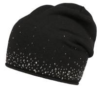 Mütze mit Strasssteinen schwarz