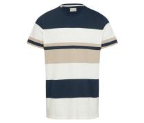 Shirt beige / creme / dunkelblau