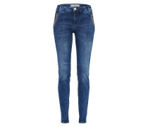 Skinny Jeans 'Etta Shine Long' blue denim